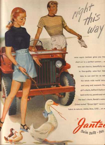 "Jantzen's ""Right this way!"" (1946)"