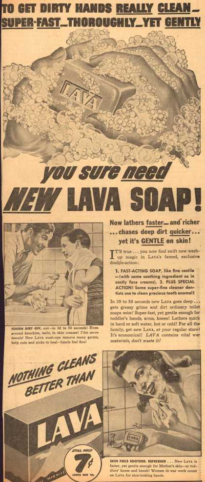 Procter & Gamble Co.'s Lava Soap – You Sure Need New Lava Soap (1944)