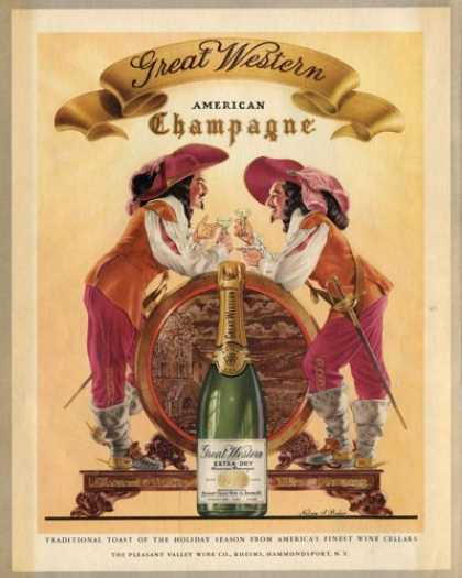 Great Western Champagne Musketeers Baker Art (1950)