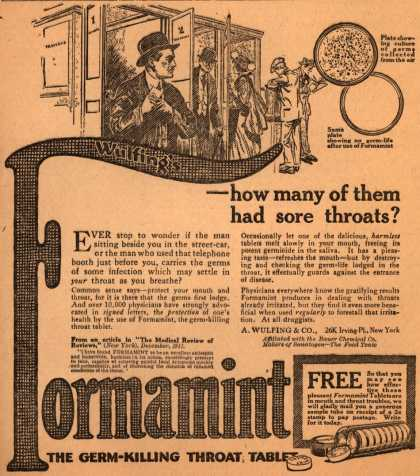 A. Wulfing & Company's Wulfing's Formamint – -how many of them had sore throats