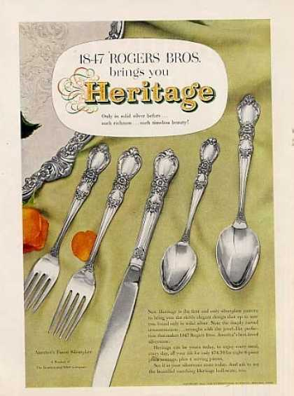- 1847 Rogers Bros. Silverplate Ad Heritage (1953)