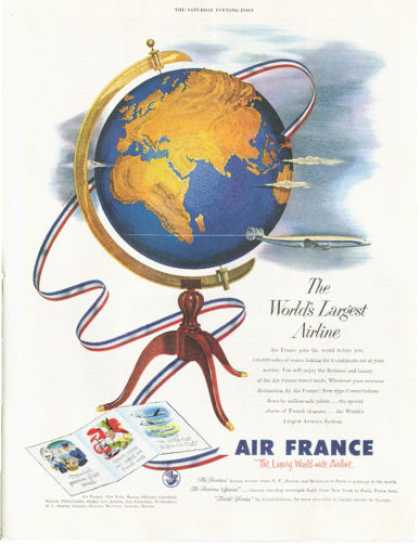 Air France Airlines Plane (1953)