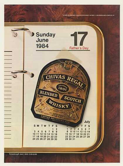 Chivas Regal Scotch Whisky Father's Day (1984)