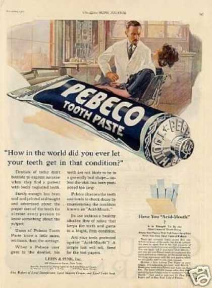 Pebco Tooth Paste Color (1921)