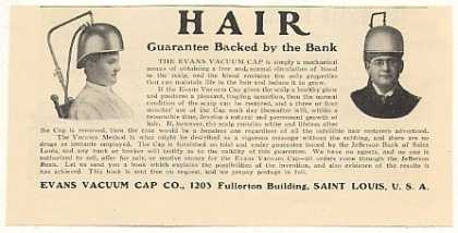 Evans Vacuum Cap Hair Grower Guarantee by Bank (1905)