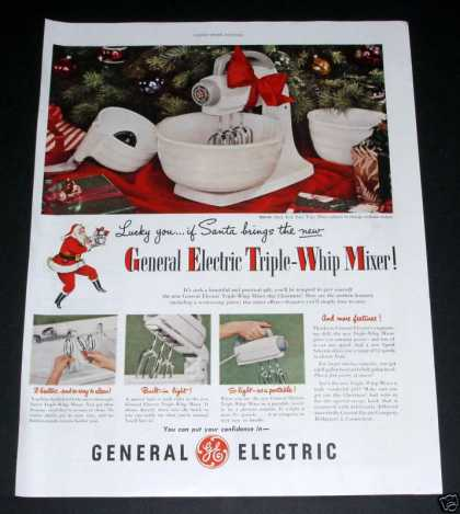 Ge Triple Whip Mixer, Christmas (1949)