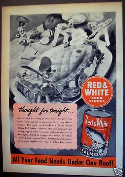 Red & White Food Store Salmon Fish (1955)
