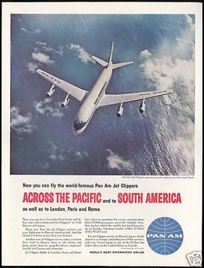 Pan Am Airlines Jet Clipper Photo Vintage (1959)