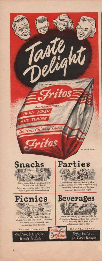 Fritos Golden Chips of Corn (1949)