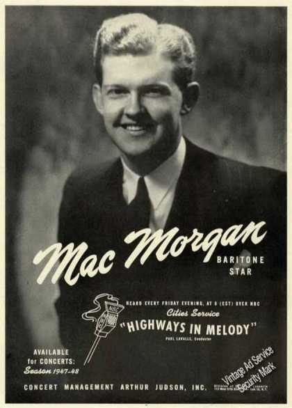 Mac Morgan Photo Baritone Concerts (1947)