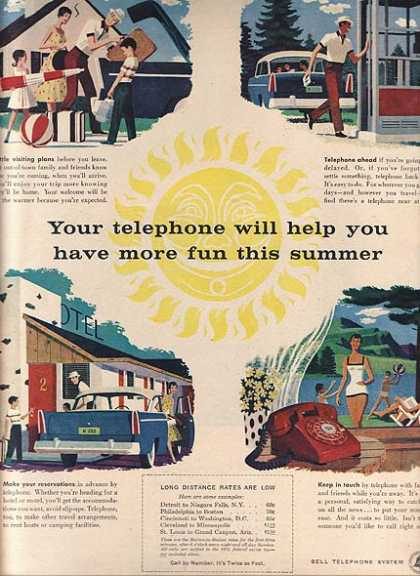 "Bell's ""Your telephone will help you have more fun this summer"" (1956)"