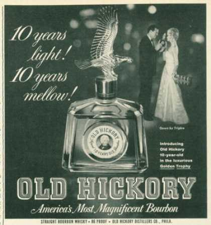 Old Hickory Bourbon Gold Trophy Bottle (1961)