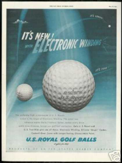 Royal Golf Balls Gaydus Vintage Art (1950)