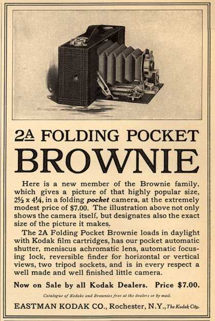Kodak's Folding Pocket Brownie camera, No. 2A – A Folding Pocket Brownie (1910)