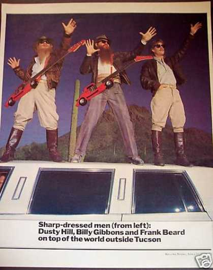 Sharp-dressed Men Zz Top Z Z Promo Photo (1984)