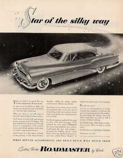 "Buick Roadmaster Car Ad ""Star of the Silky... (1953)"
