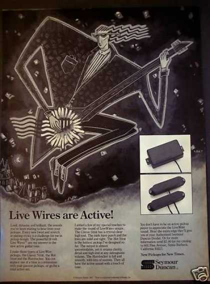 Live Wire Pickups By Seymour Duncan Music (1987)