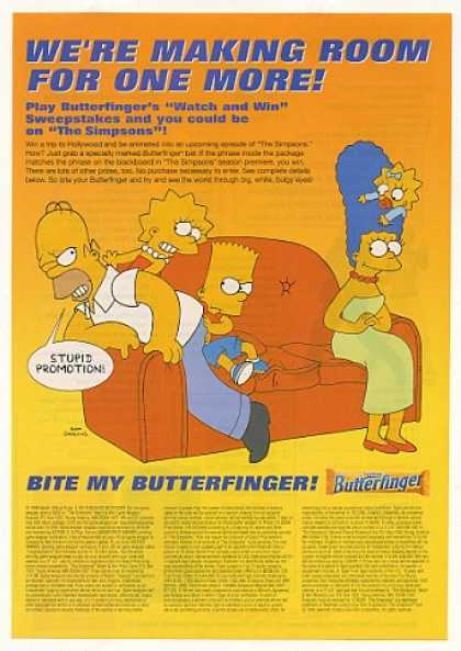 The Simpsons Watch Win Butterfinger Candy Bar (1999)