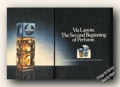 Via Lanvin the Second Beginning of Perfume (1973)