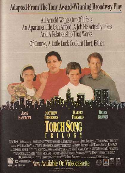 Torch Song Trilogy (Anne Bancroft, Matthew Broderick, Harvey Fierstein and Brian Kerwin) (1989)
