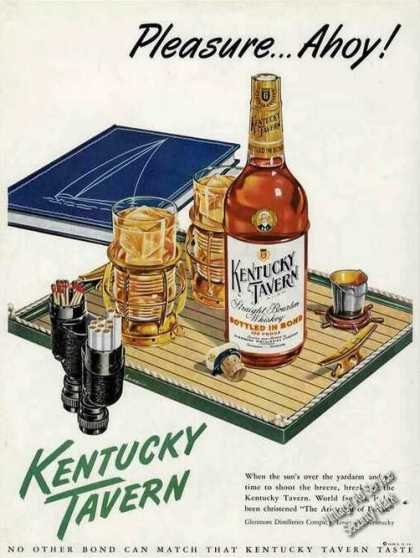 "Kentucky Tavern Sailboat Theme ""Pleasure Ahoy"" (1948)"