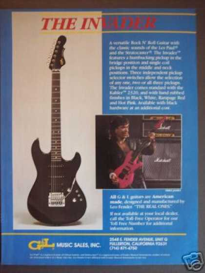 G & L Invader Guitar Photo (1985)