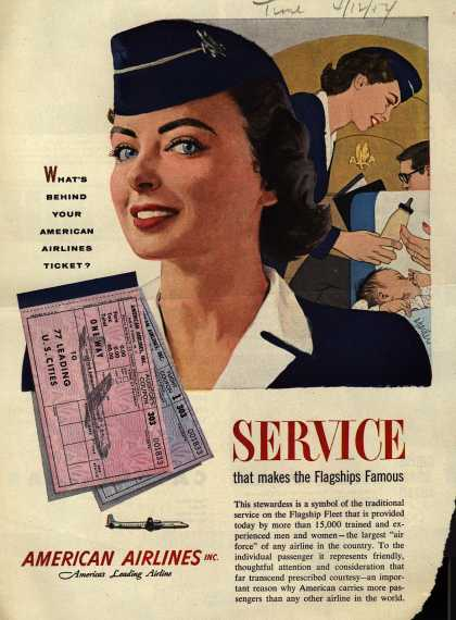 American Airlines – What's Behind Your American Airlines Ticket? Service that Makes the Flagships Famous (1954)