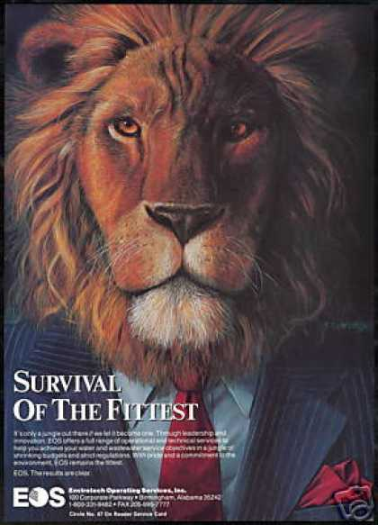 Lion In Suit Survival Fittest Art EOS (1990)