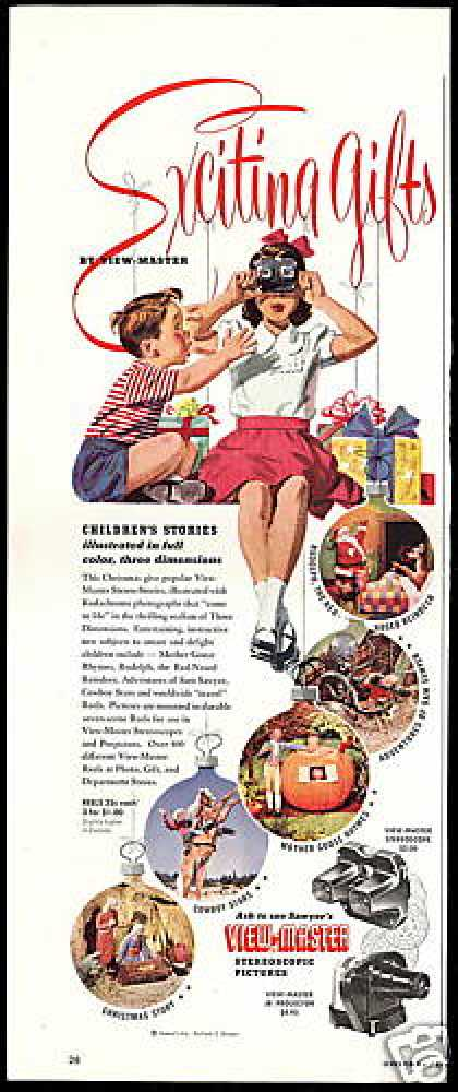 Sawyer's View Master Stereo Stories Reels (1950)