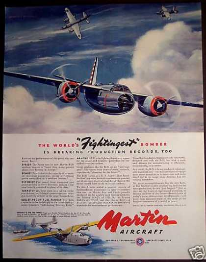Martin Aircraft B-26 Medium Bomber Airplane (1941)
