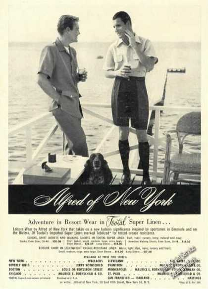 Alfred of New York Super Linen Rare Fashion (1951)