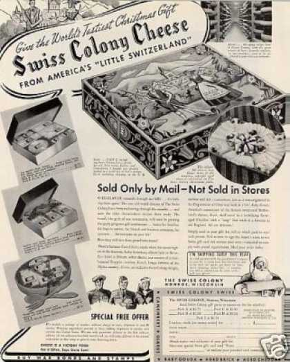 Swiss Colony Cheese (1942)