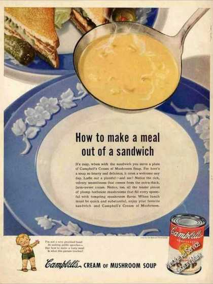Large Wwii Campbells Cream of Mushroom Soup (1944)