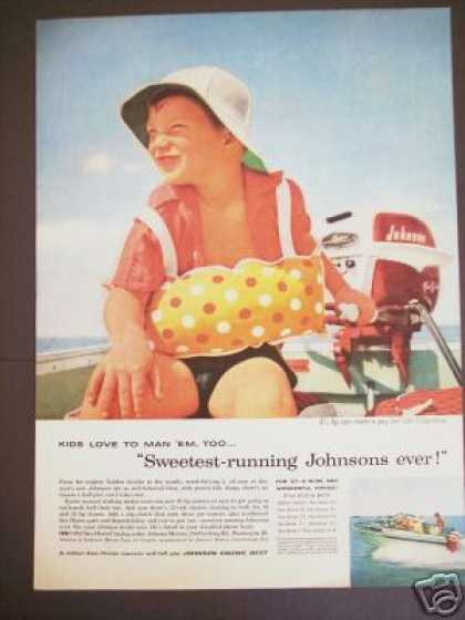 Johnson Sea-horse Outboard Boat Motors Boating (1956)