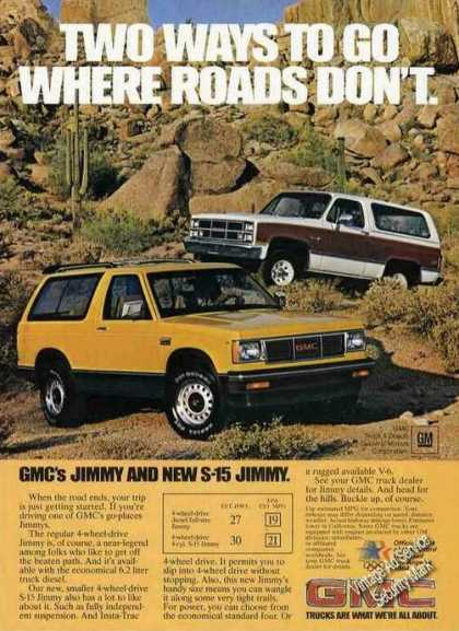 Gmc Jimmy & New S-15 Jimmy Trucks (1983)