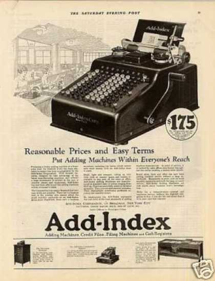 Add-index Adding Machine (1923)
