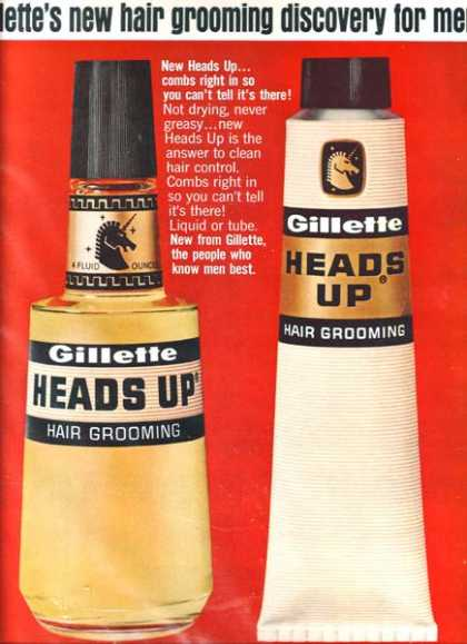 "Gillette's ""new hair grooming discovery for men"" (1965)"
