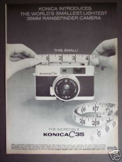 Konica C 35 Smallest 35mm Rangefinder Camera (1969)