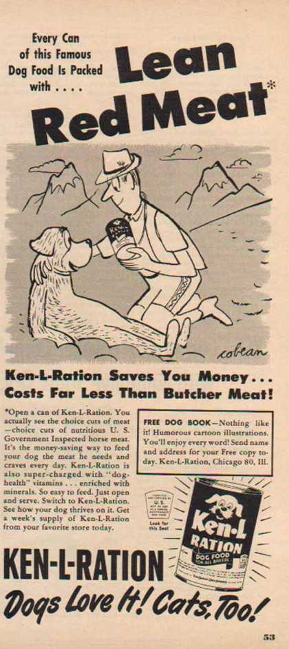 Ken-L Ration Dog Food – Lean Red Meat (1950)
