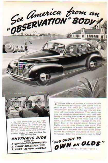 Oldsmobile Car – Olds Seventy 4 Door Sedan – Sold (1939)