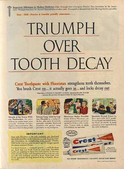 Crest's Toothpaste with Fluoristan (1956)
