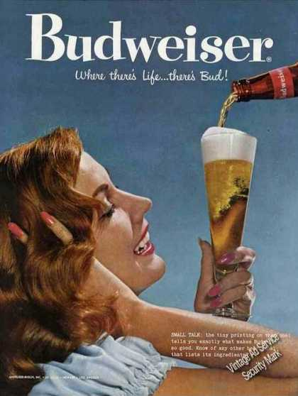 "Budweiser ""Where There's Life....there's Bud!"" (1958)"