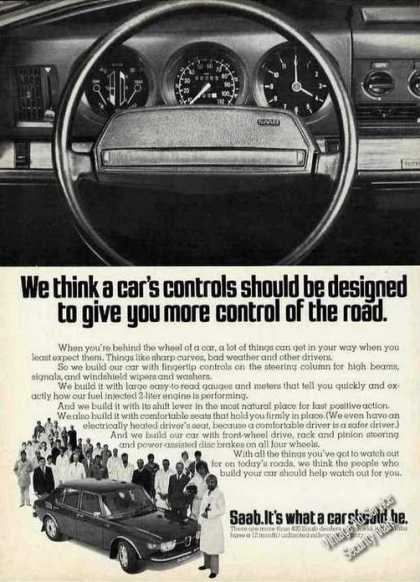 "Saab Dashboard ""More Control of the Road"" Car (1974)"