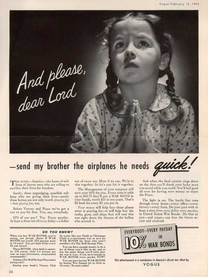 Vogue's War Bonds – And Please, dear Lord (1943)
