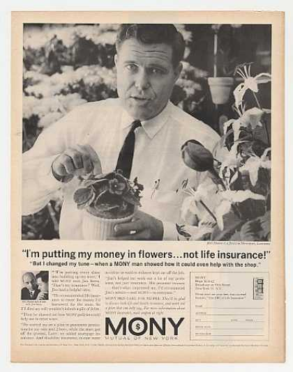 Florist Bill Hunter Photo MONY Insurance (1962)