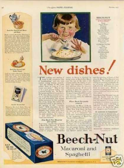 Beech-nut Macaroni and Spaghetti (1923)