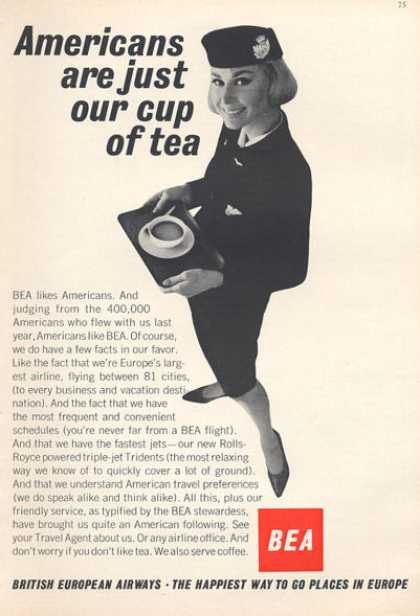 Bea British European Airlines Stewardess (1966)