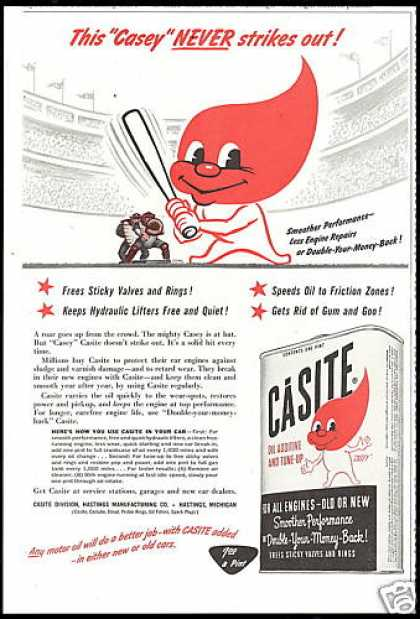 Casite Engine Oil Additive Casey At Bat (1954)