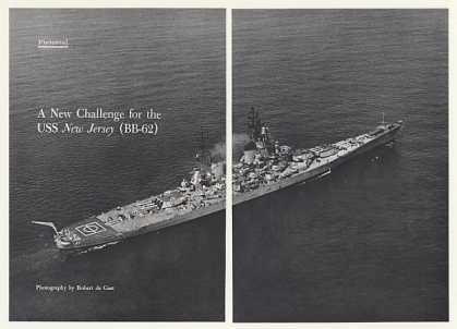 USS New Jersey BB-62 Ship Pictorial Photo Article (1968)