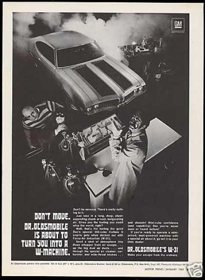Oldsmobile W-31 W31 Cutlass Car Photo (1969)